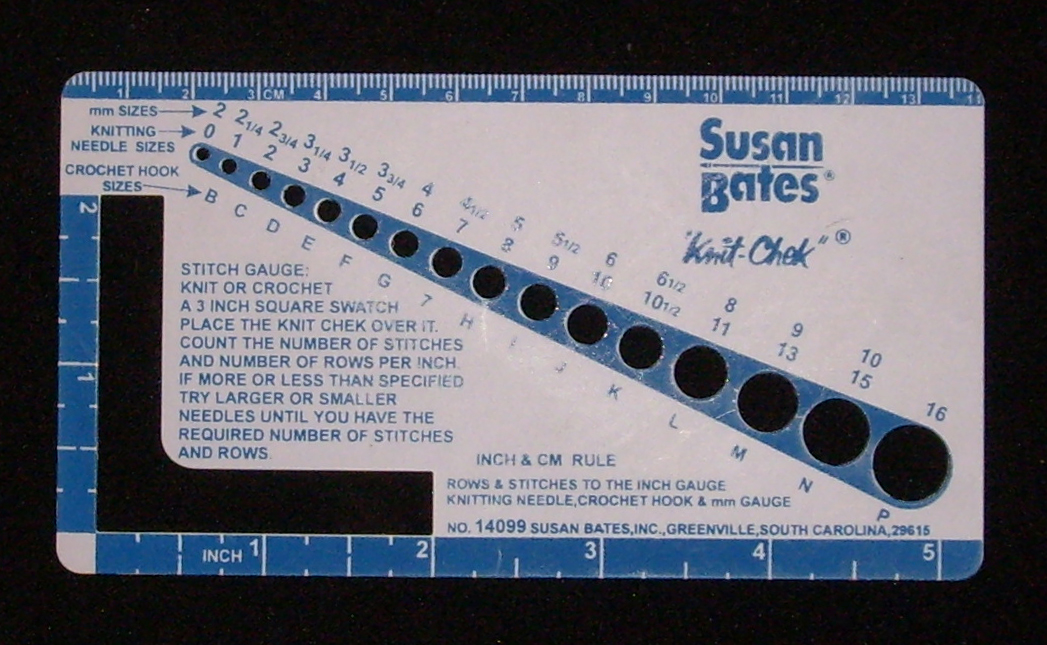 Knitting Needle Size Gauge : Hook gauge wikipedia