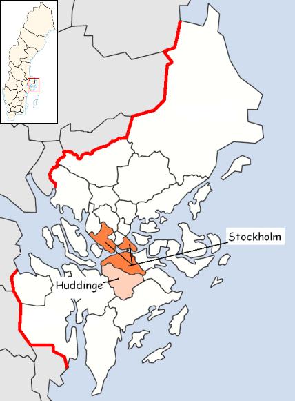 Huddinge Municipality Wikipedia - Jarfalla sweden map