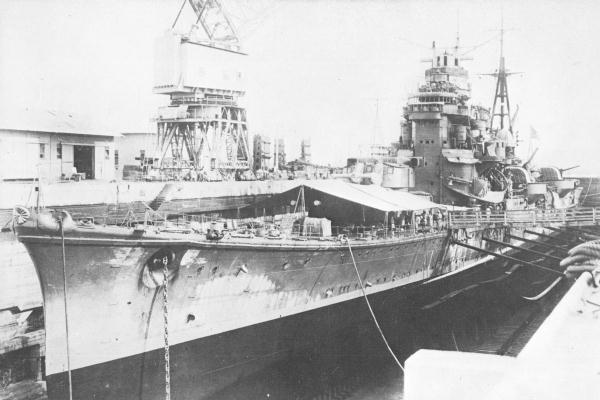 Japanese cruiser Ashigara 1942