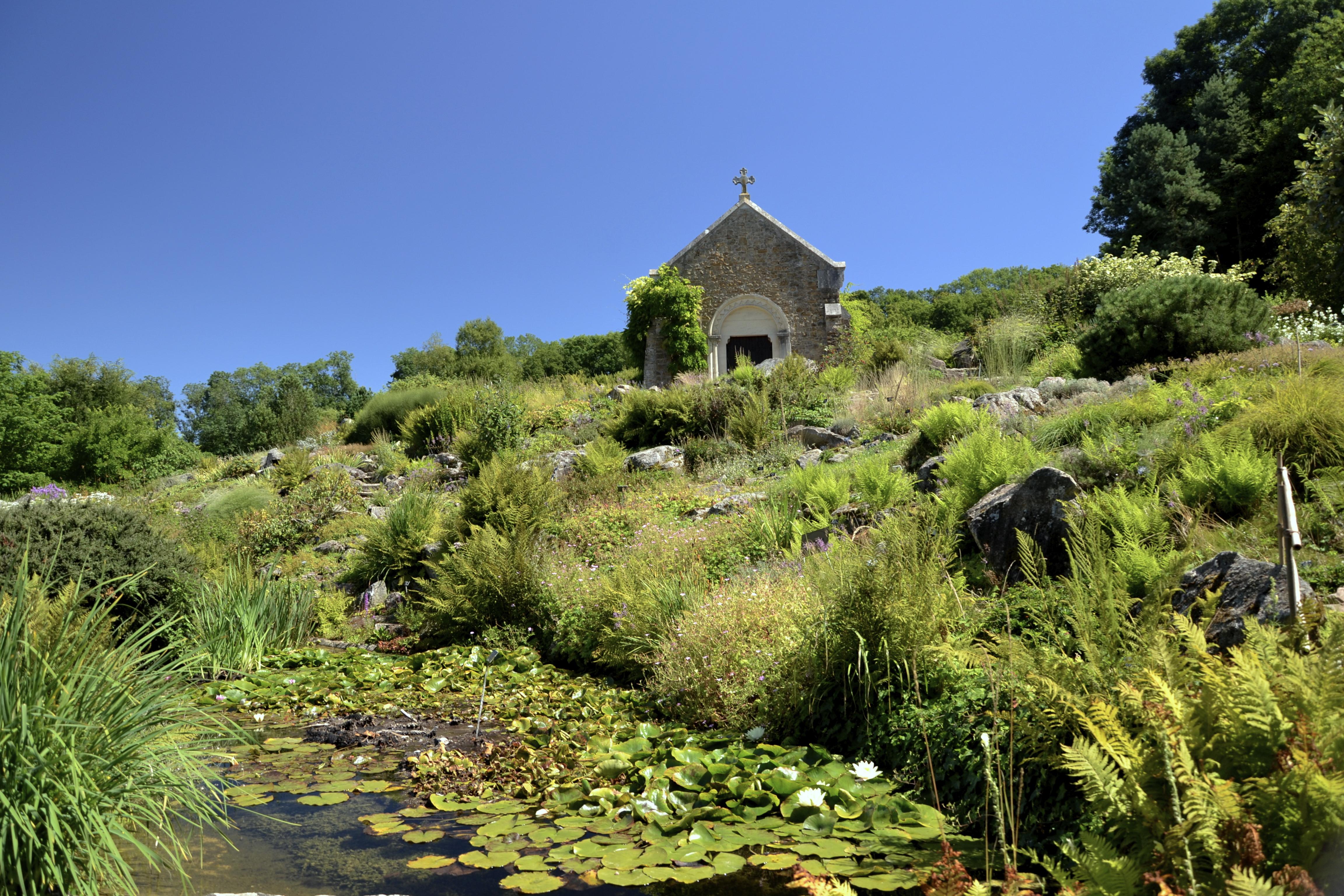 File:Jardin Botanique Du Montet   Chapelle Sainte Valérie Et Alpinum