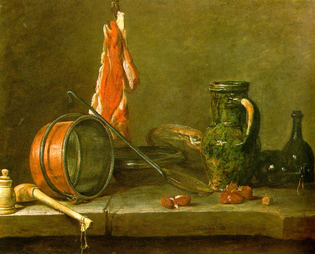 Jean-Baptiste Simeon Chardin A Lean Diet with Cooking Utensils.jpg