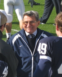 Joe Paterno Sideline PSU Illinois 2006 Nike Drops Joe Paternos Name from Child Care Building After Investigators Report Shows Cover Up