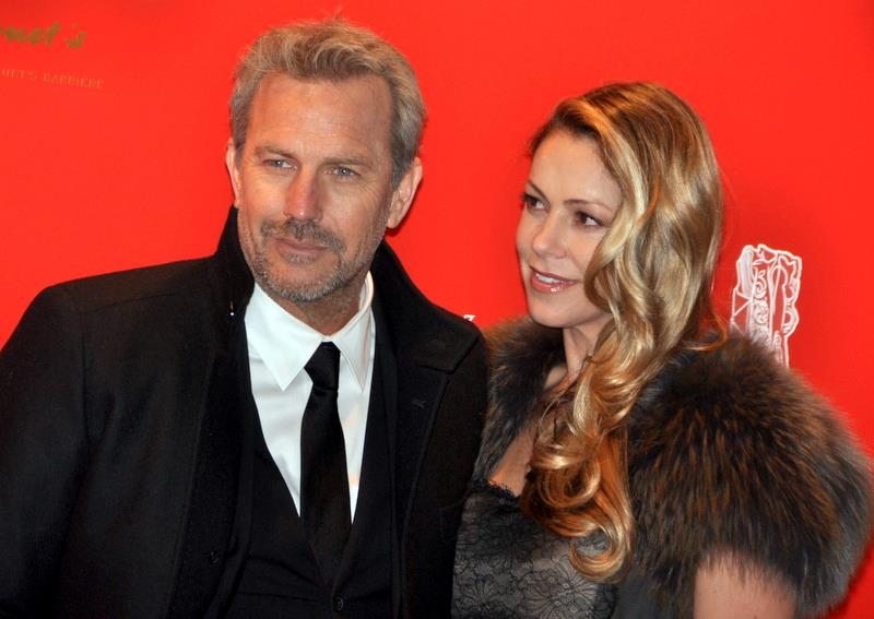 Kevin Costner with gracious, desirable, attractive, Wife Christine Baumgartner