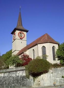 Oberburg village church