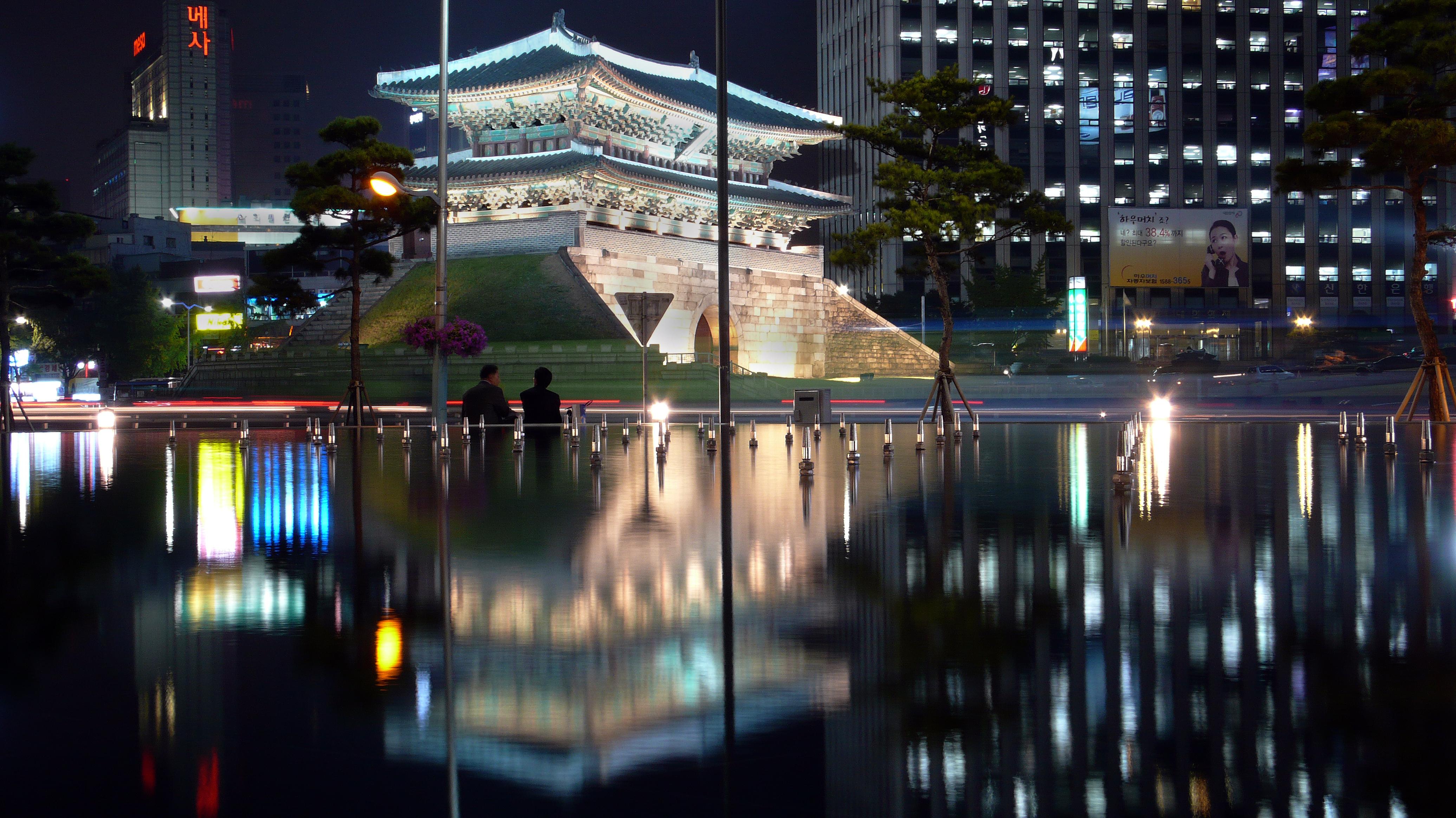 سيول, كوريا الجنوبية, مساء, ناطحات السحاب, 4k, أضواء المدينة, سيتي