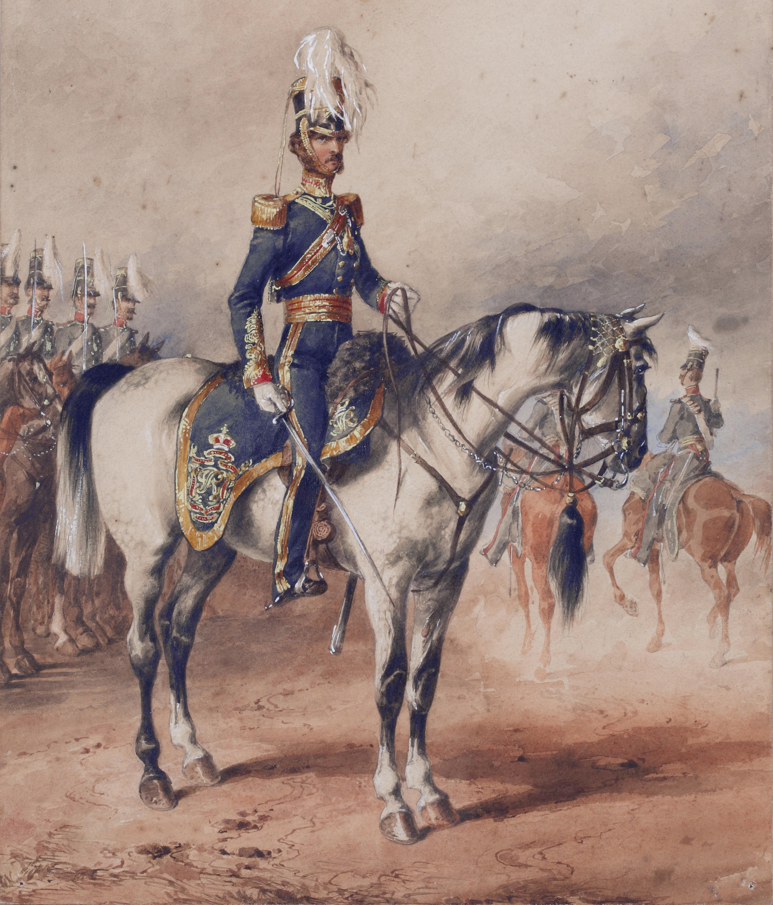 Lieutenant Colonel George Paget, 4th (Queenu0027s Own) Light Dragoons, Dublin  1850, Who Commanded The Regiment During The Crimean War (Michael Angelo  Hayes, ...