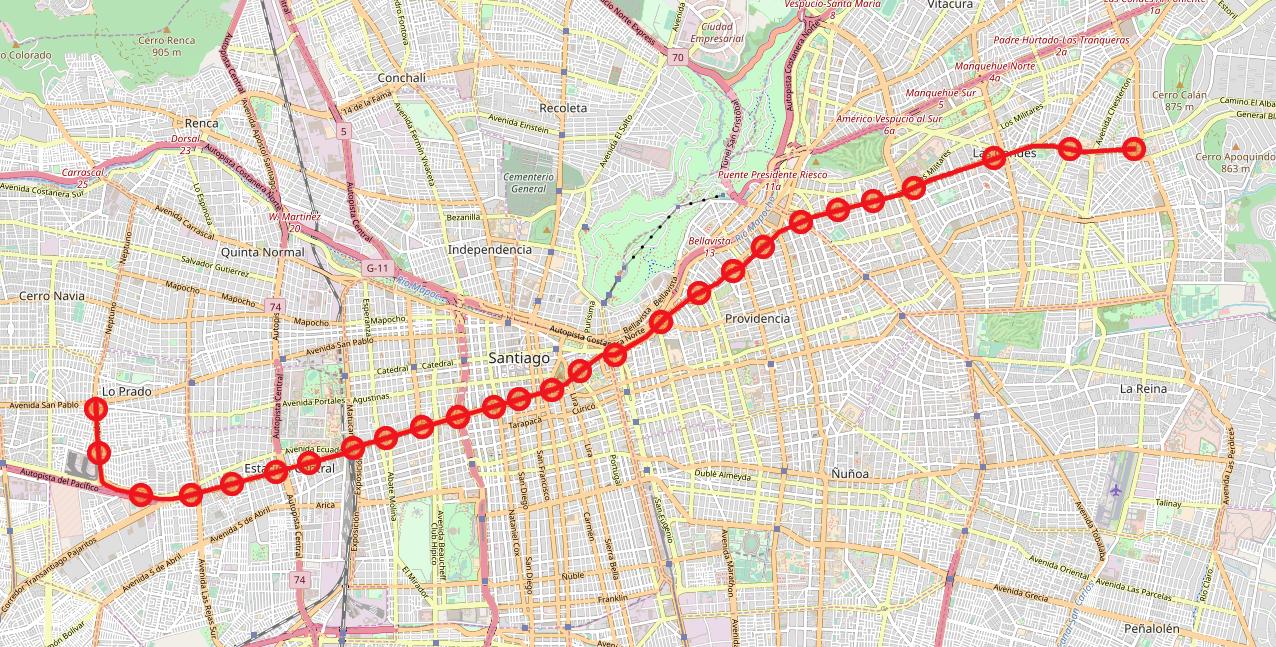 Linea 1 Del Metro De Santiago Wikipedia La Enciclopedia Libre