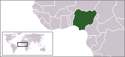 Location of Nigèria