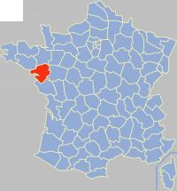 Situation du département de la Loire-Atlantique en France.