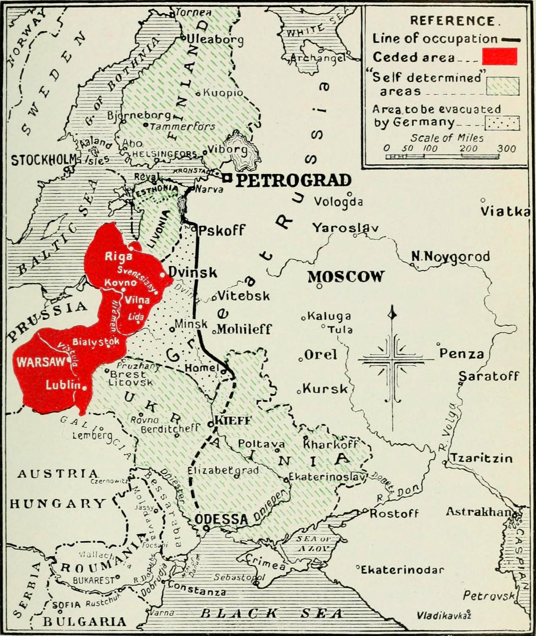 FileMap Treaty BrestLitovskjpg Wikimedia Commons