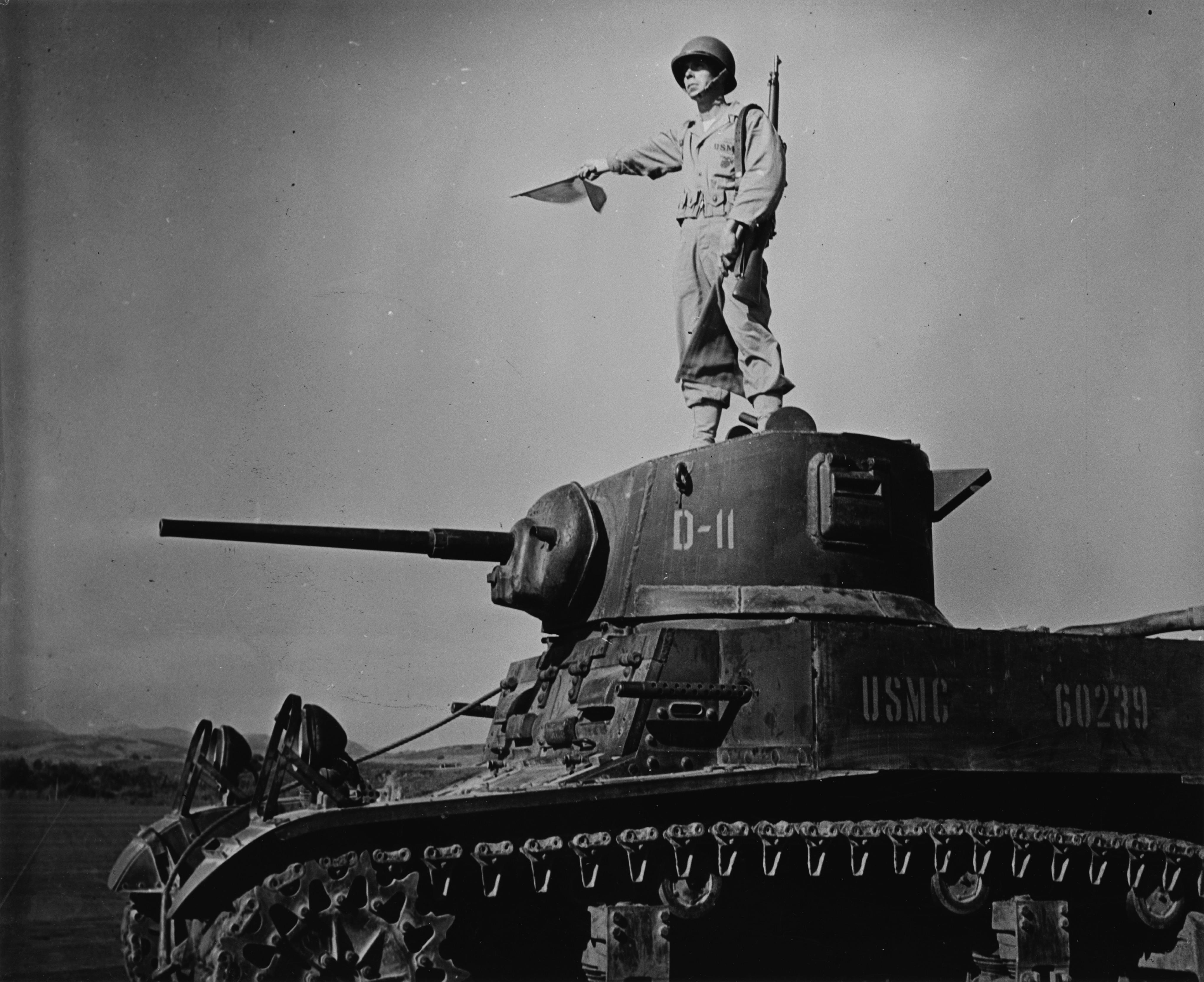 M3A1 from the USMC with an officer signalling - Wikipedia