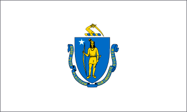 bandeira Massachusetts eua