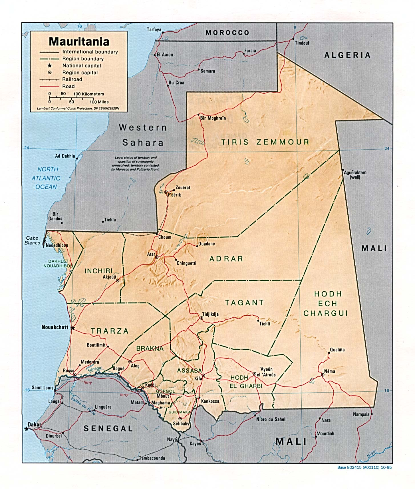 Image result for mauritania map