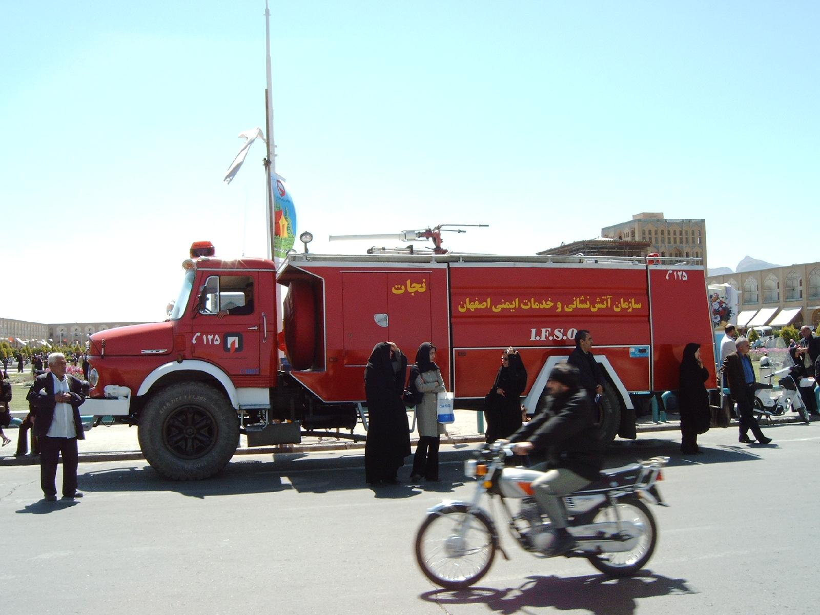 Feuerwehrfahrzeug im Iran