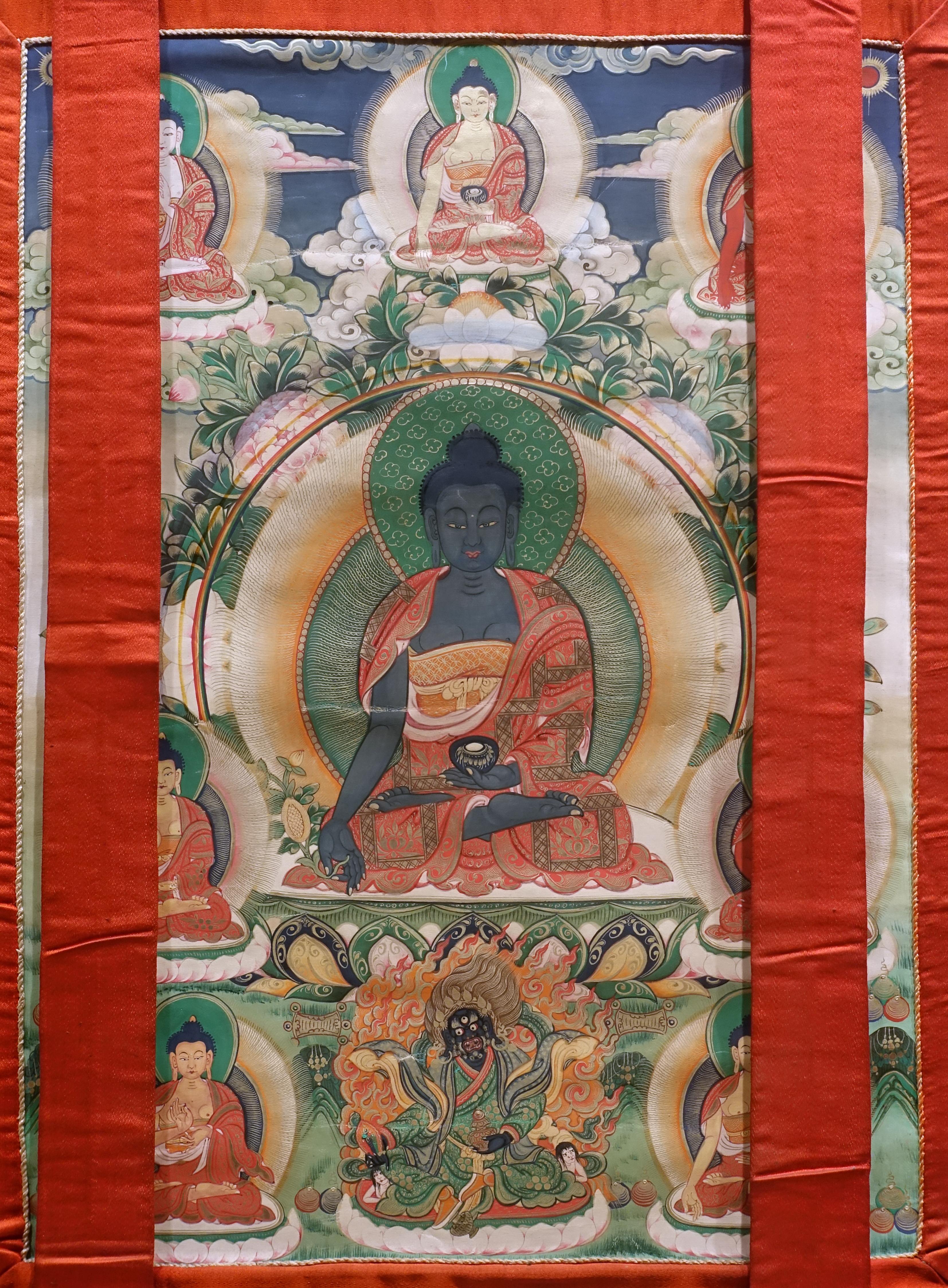 File:Medicine Buddha, 1644-1911 AD, thangka - Sichuan University Museum -