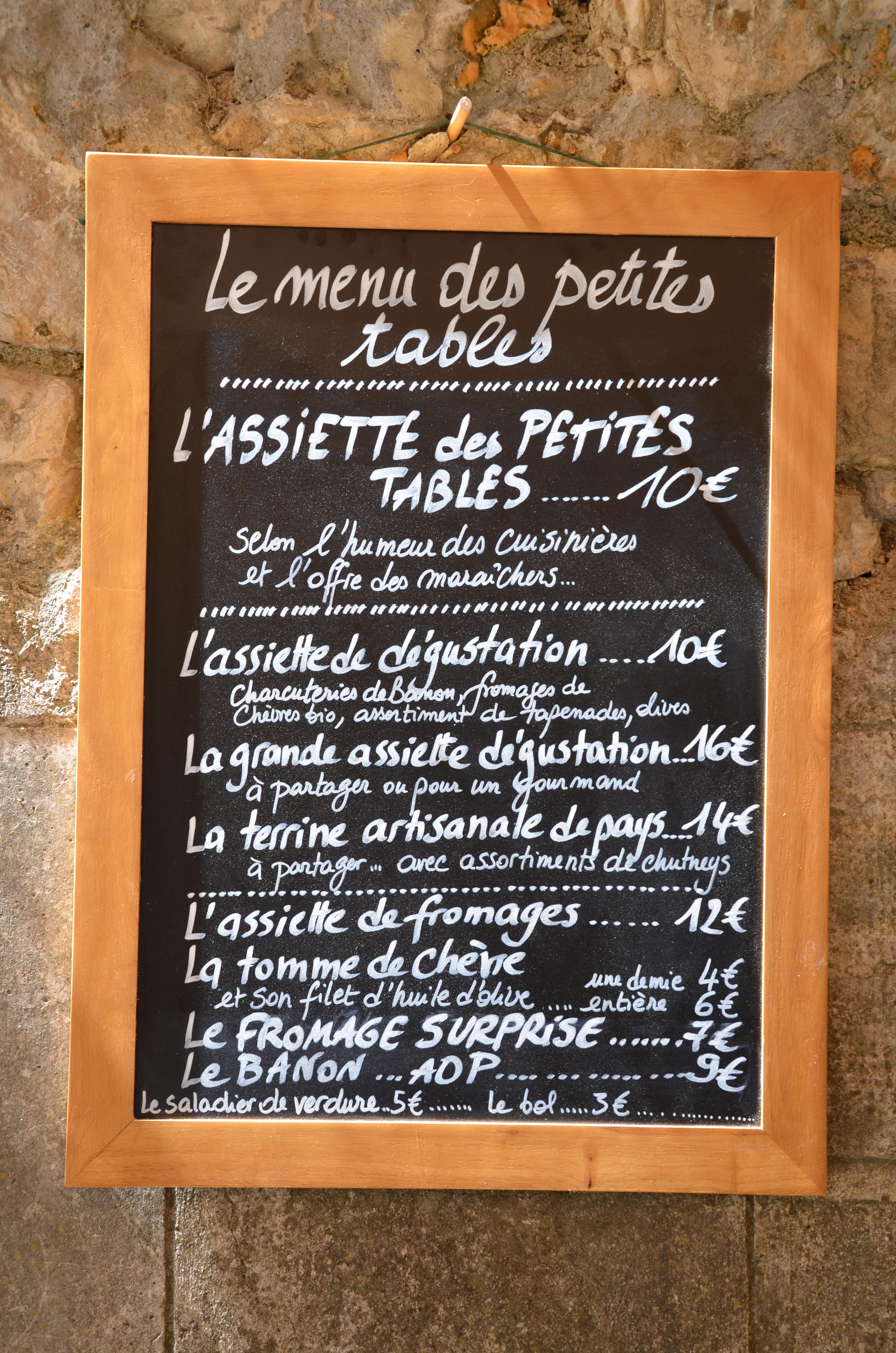 Menu Restaurant L Absolu A Frejus