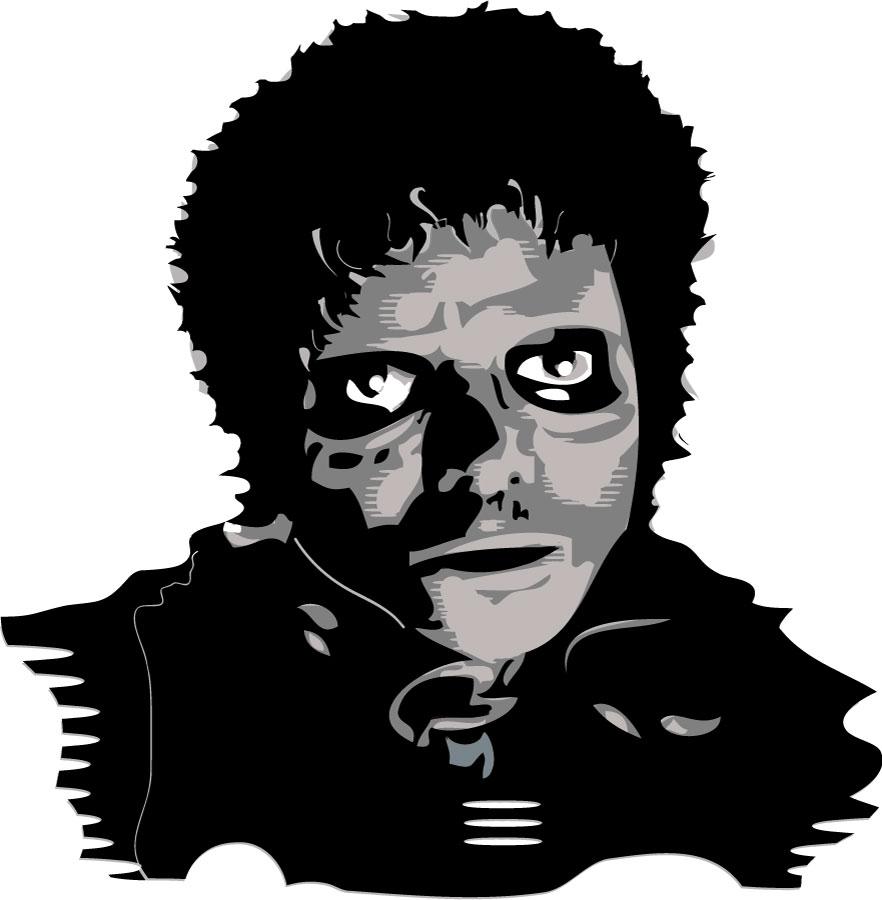 Representación gráfica de Michael Jackson en su vídeo musical de Thriller.