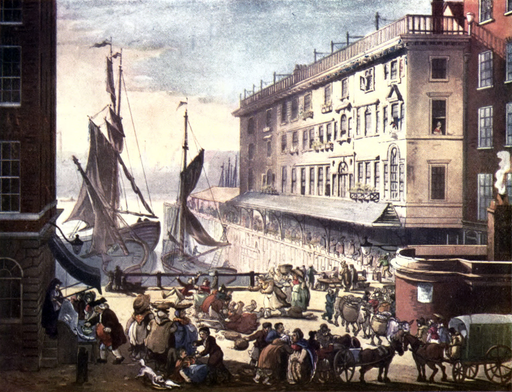 The Billingsgate Fish Market In Early 19th Century