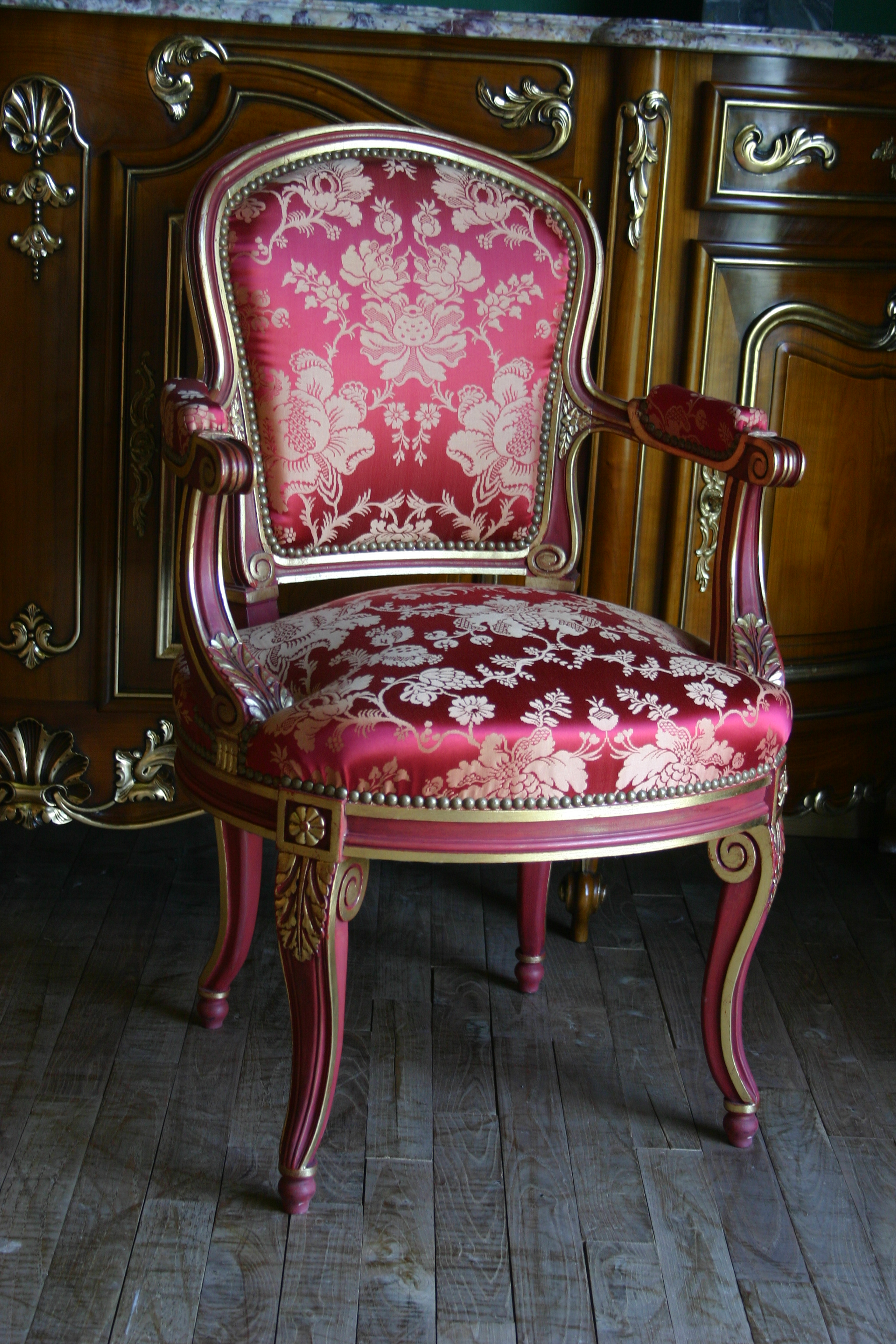 file n 166bisbdt fauteuil cabriolet bout de table georges jacob de style. Black Bedroom Furniture Sets. Home Design Ideas