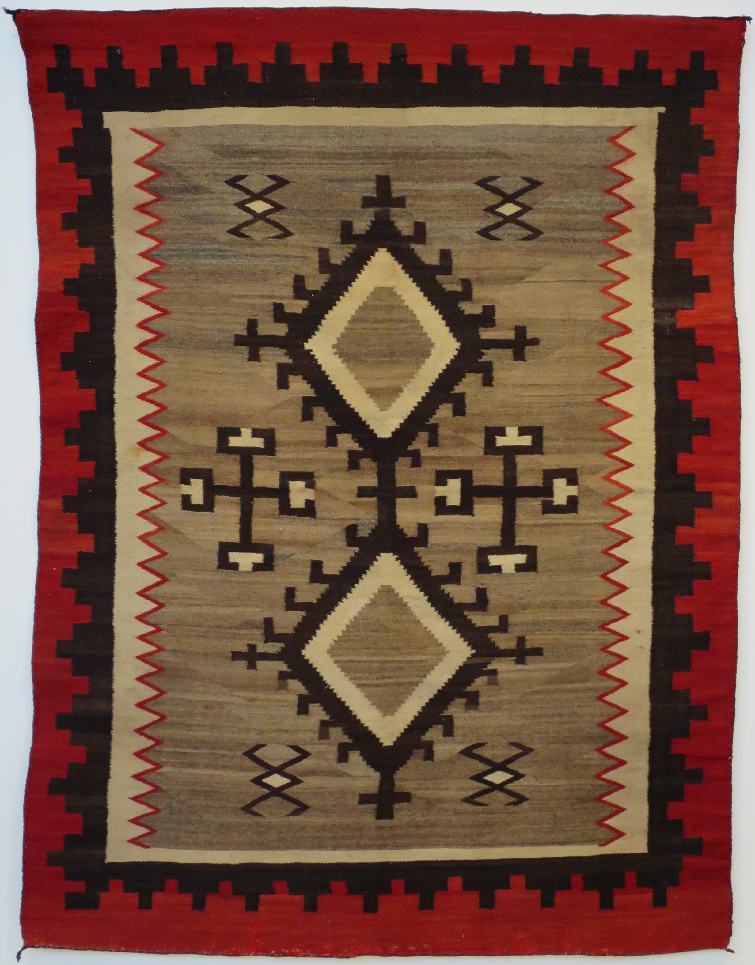 File Navajo Blanket Or Rug Honolulu Museum Of Art 4420 1