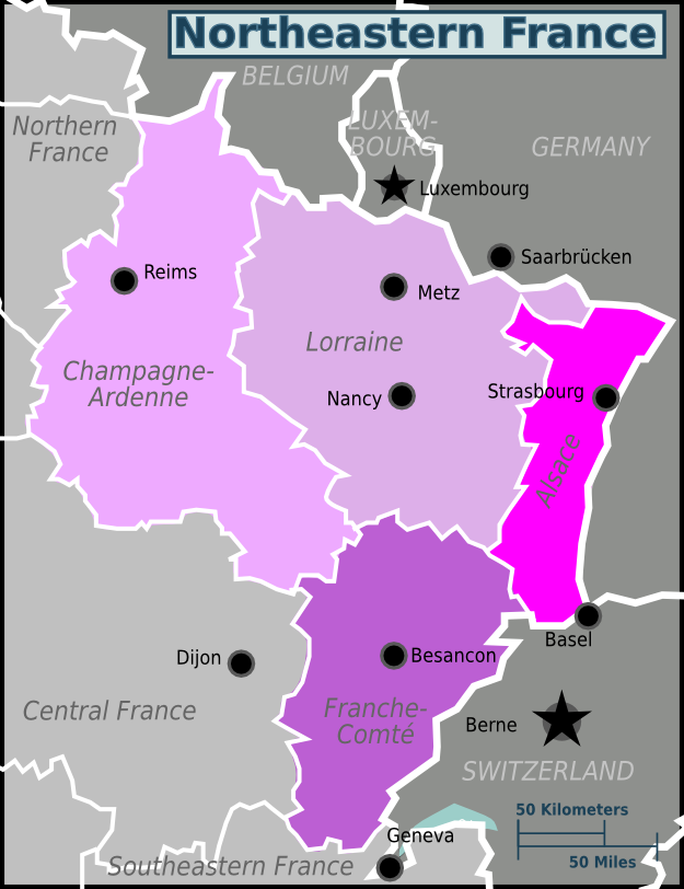 Map Of France North.Map Of North Eastern France Twitterleesclub