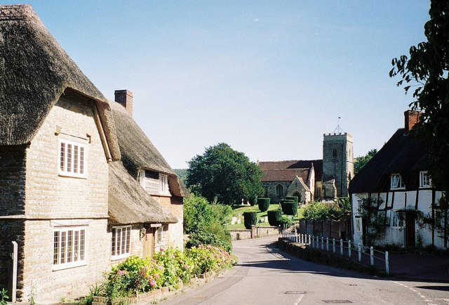 Okeford Fitzpaine, quintessential English village scene - geograph.org.uk - 473400