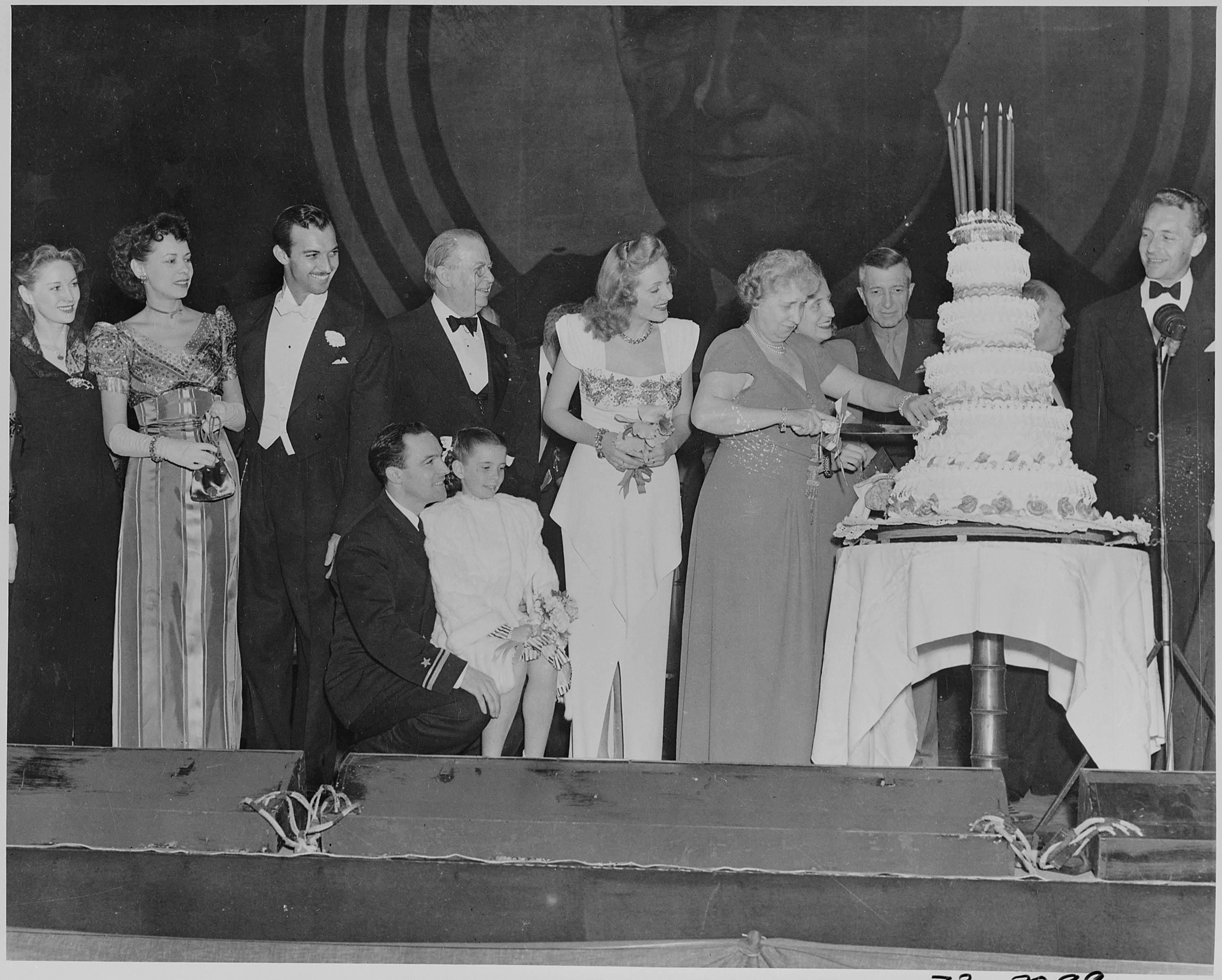 File Photograph Of First Lady Bess Truman Cutting The Cake