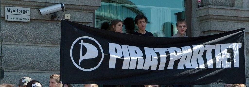 File:Piratpartiet demonstrators, Mynttorget during the ...