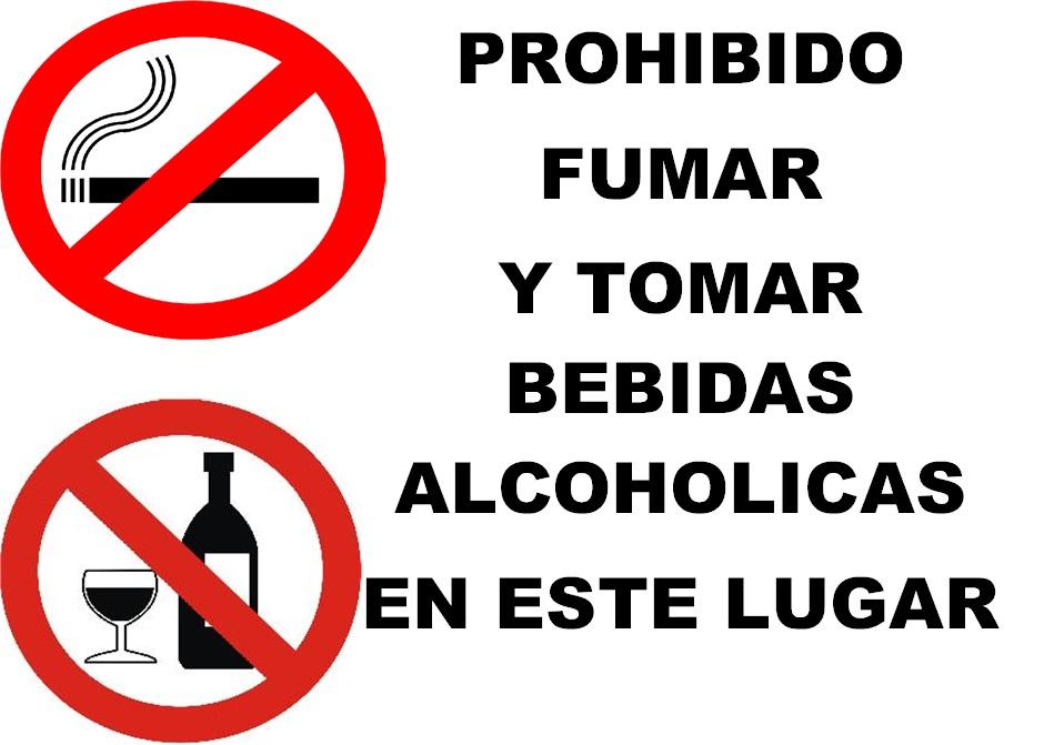 Resultado de imagen de prohibido fumar y beber