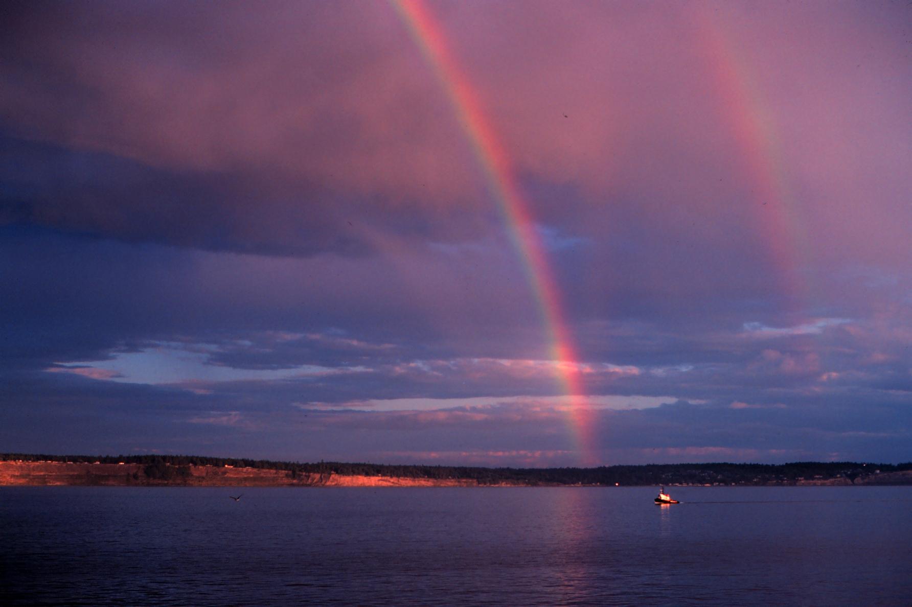 segnali di bel tempo arcobaleno