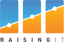English: Raising IT Logo