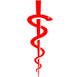 the Rod of Asclepius – Health and Medicine Symbols