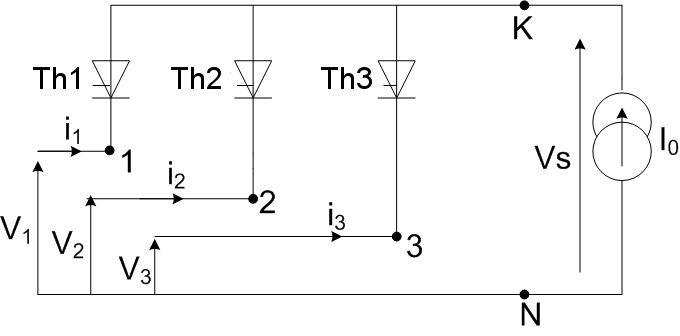 Redresseur triphase anodes thyristor.png