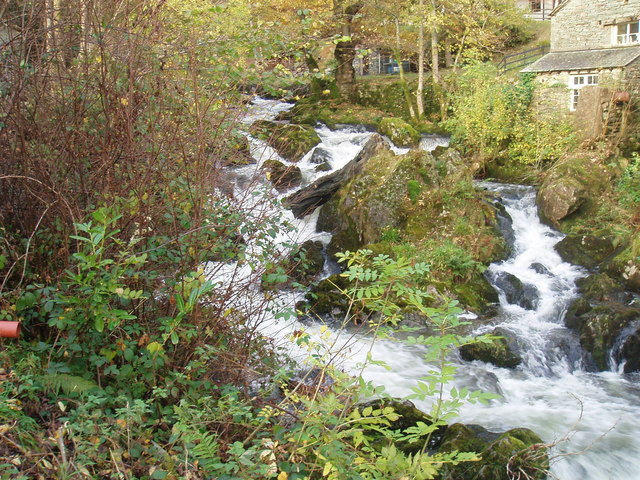 Rydal Beck at Rydal Hall - geograph.org.uk - 603452