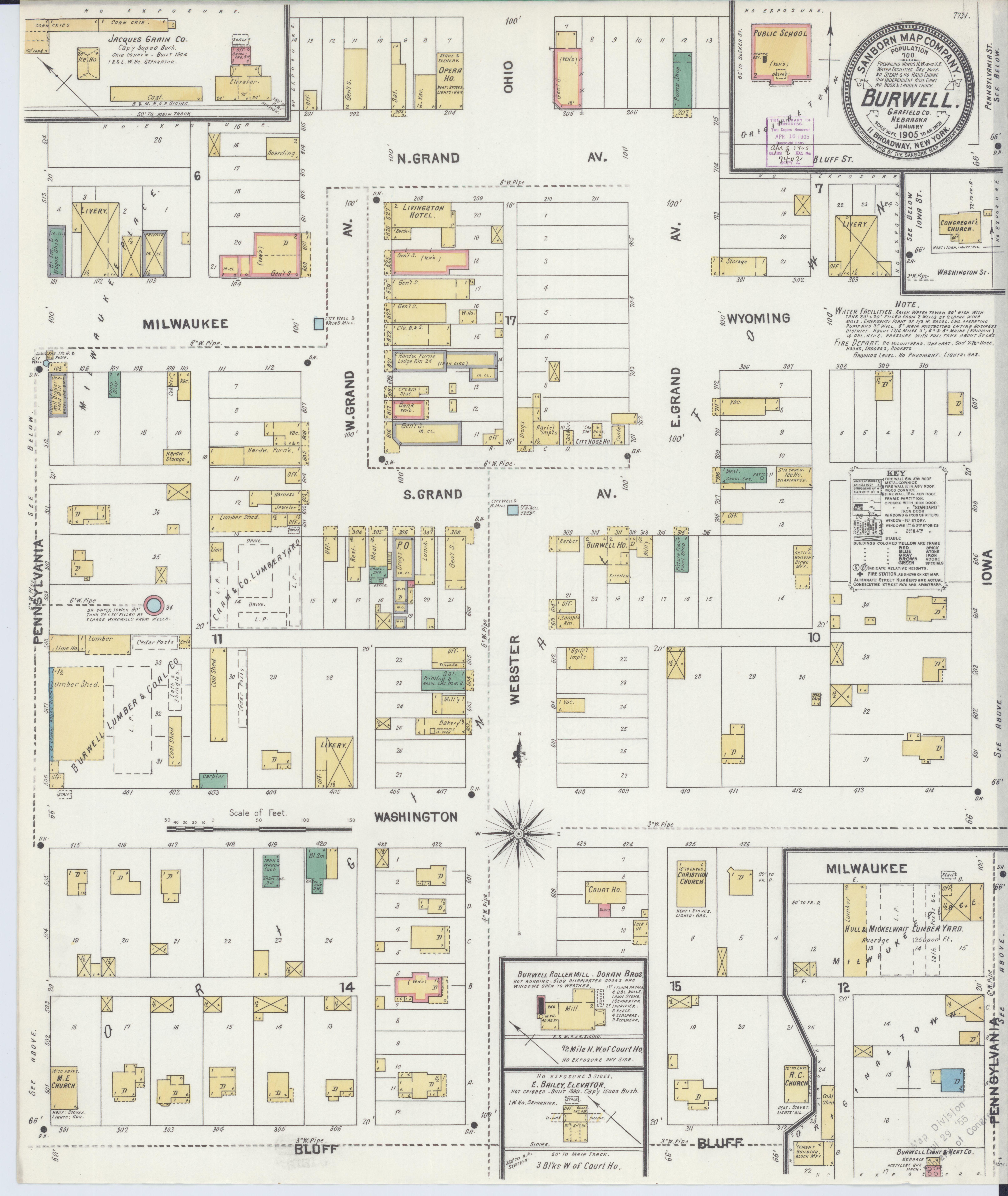 Burwell Nebraska Map.File Sanborn Fire Insurance Map From Burwell Gairfield County
