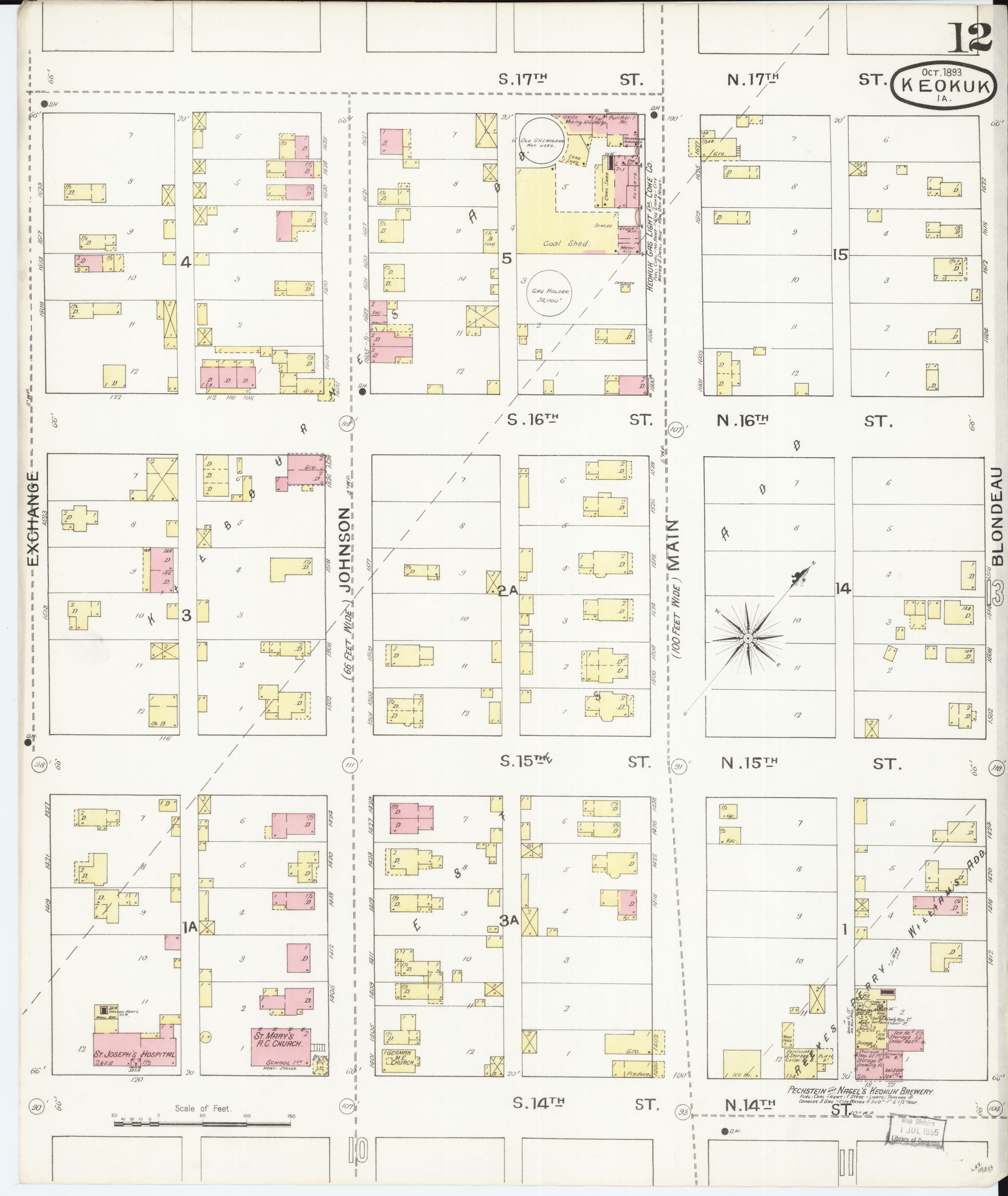File:Sanborn Fire Insurance Map from Keokuk, Lee County, Iowa. LOC on oelwein iowa state map, cresco iowa state map, des moines iowa state map, ankeny iowa state map, dubuque iowa state map, walcott iowa state map, burlington iowa state map, grinnell iowa state map, ames iowa state map,