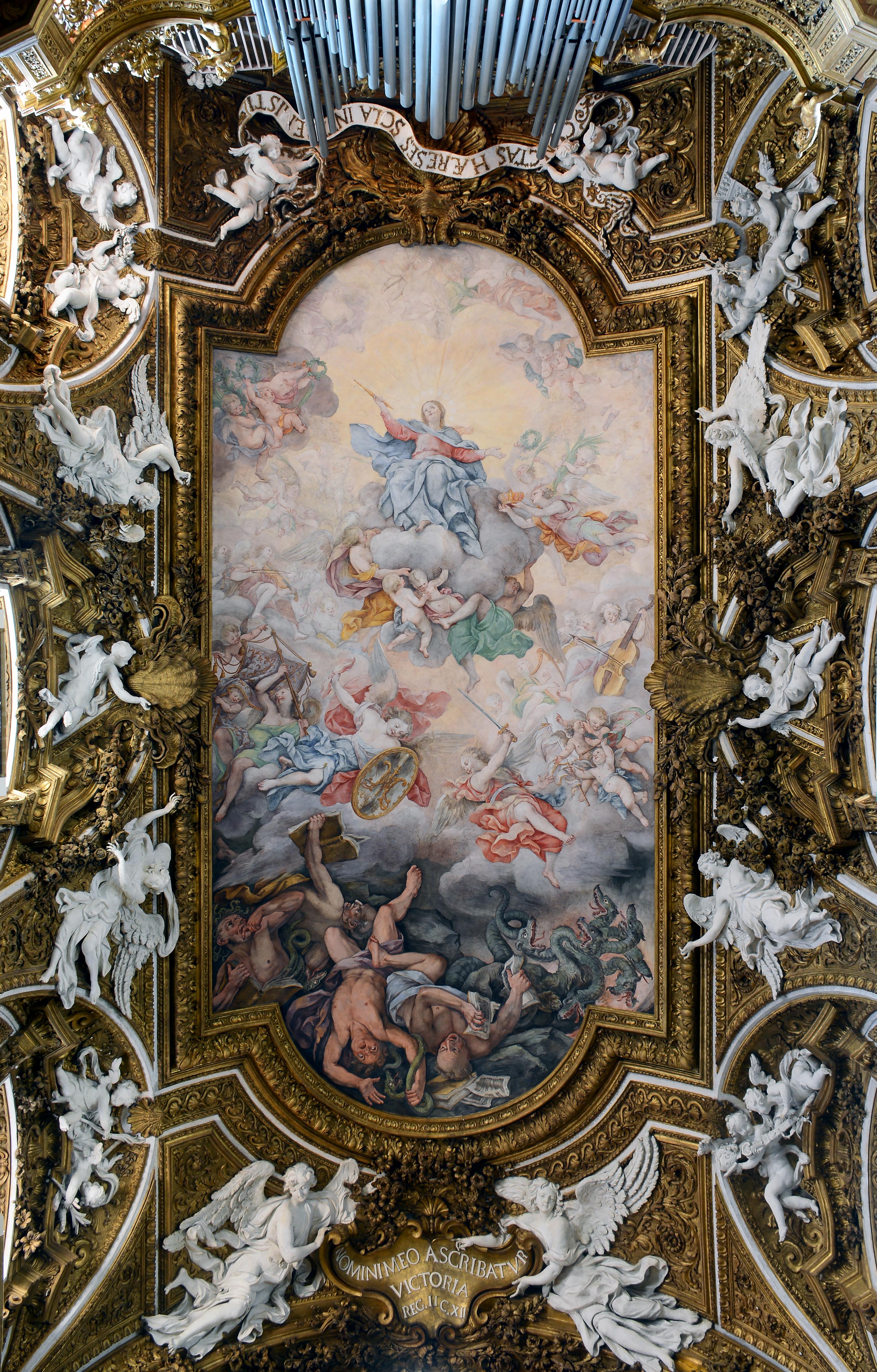 Filesanta Maria Della Vittoria In Rome Ceilingjpg