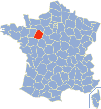 Communes of the Sarthe department Wikimedia list article