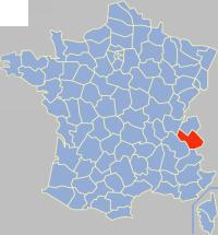 Департамент савойя на карті франції