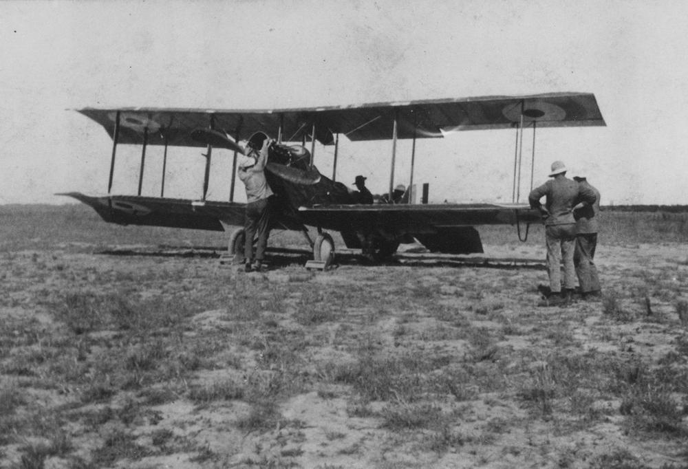 Two seater biplane at point cook during world war i ca 1915