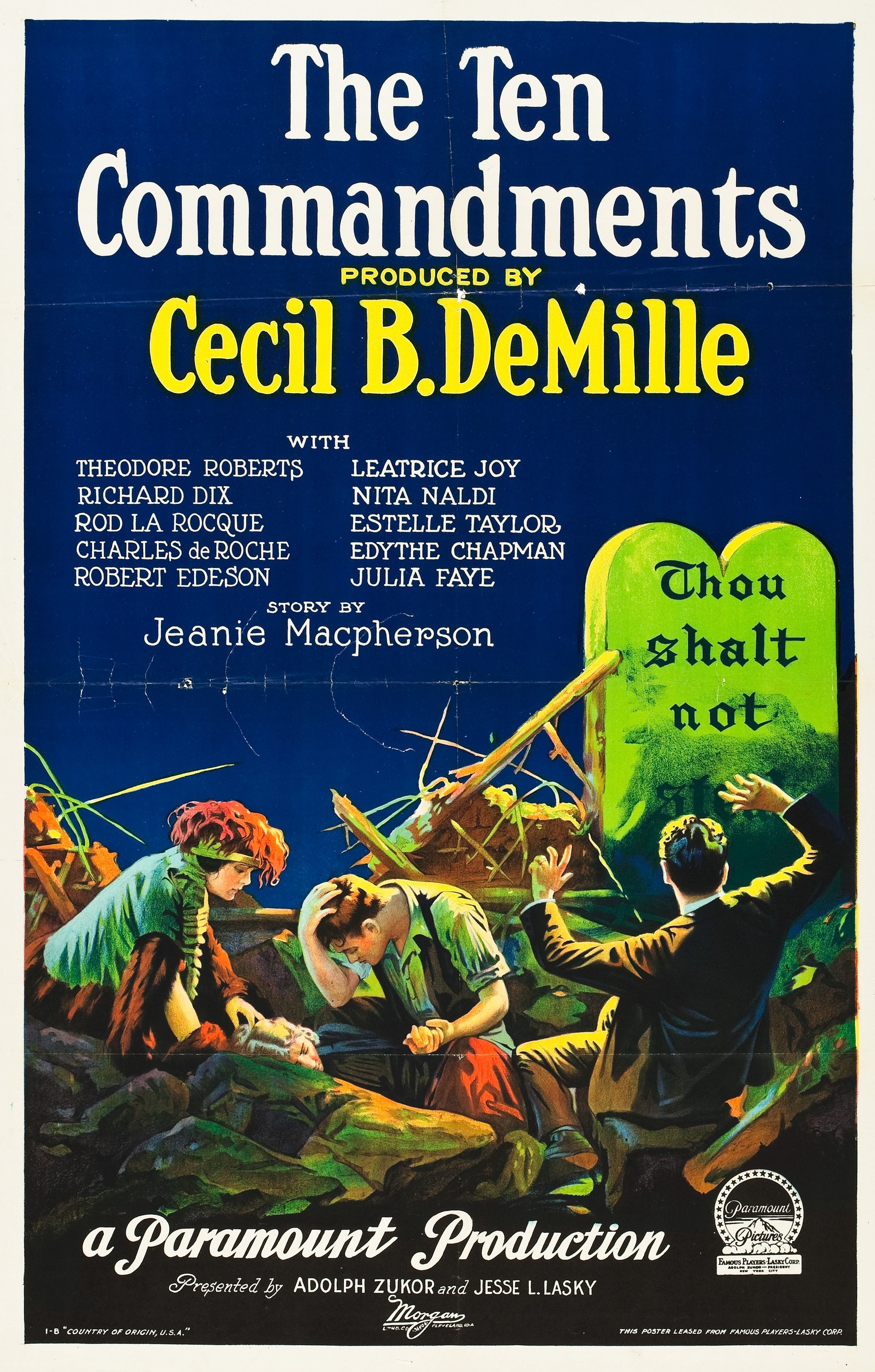 Image result for cecil b demille's 1923 movie the ten commandments