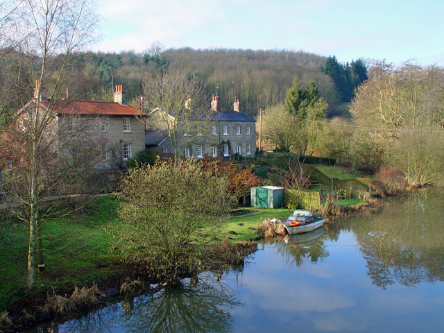 The River Derwent at Kirkham, upstream - geograph.org.uk - 769653