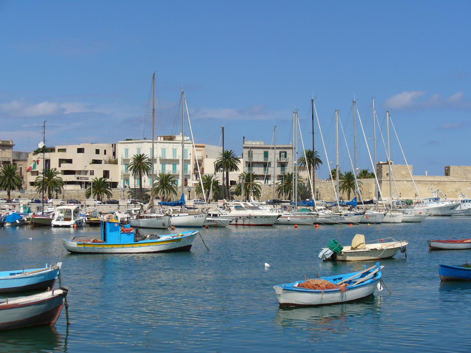 Description The Port Of Bari  Italy  L  Moptier