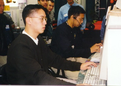 first ever professional video gamers playing computer games