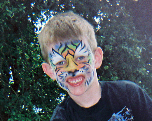 Boy in Tiger Face Paint