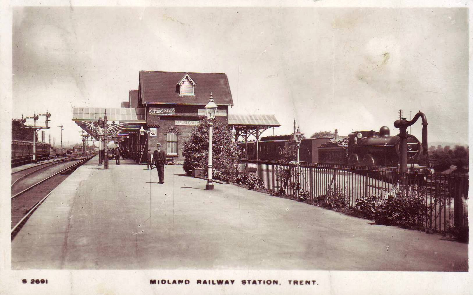 Burton to Derby Line. 2 Mickleover Etwall Railway Station Photo Egginton