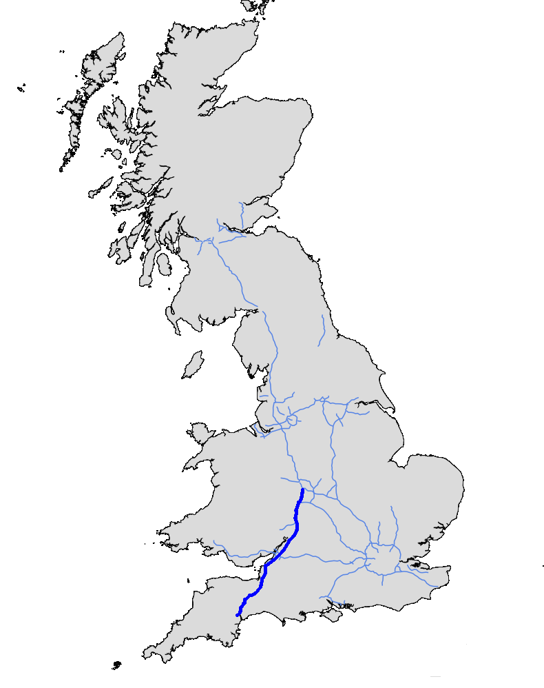 Map Of M5 File:UK motorway map   M5.png   Wikimedia Commons Map Of M5