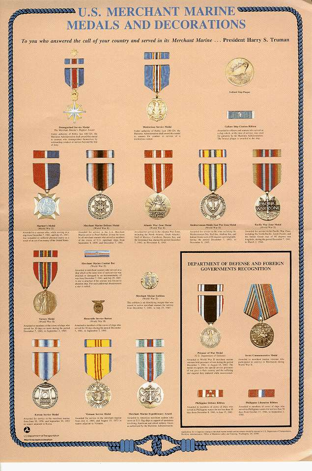 Awards and decorations of the united states merchant for Awards and decoration