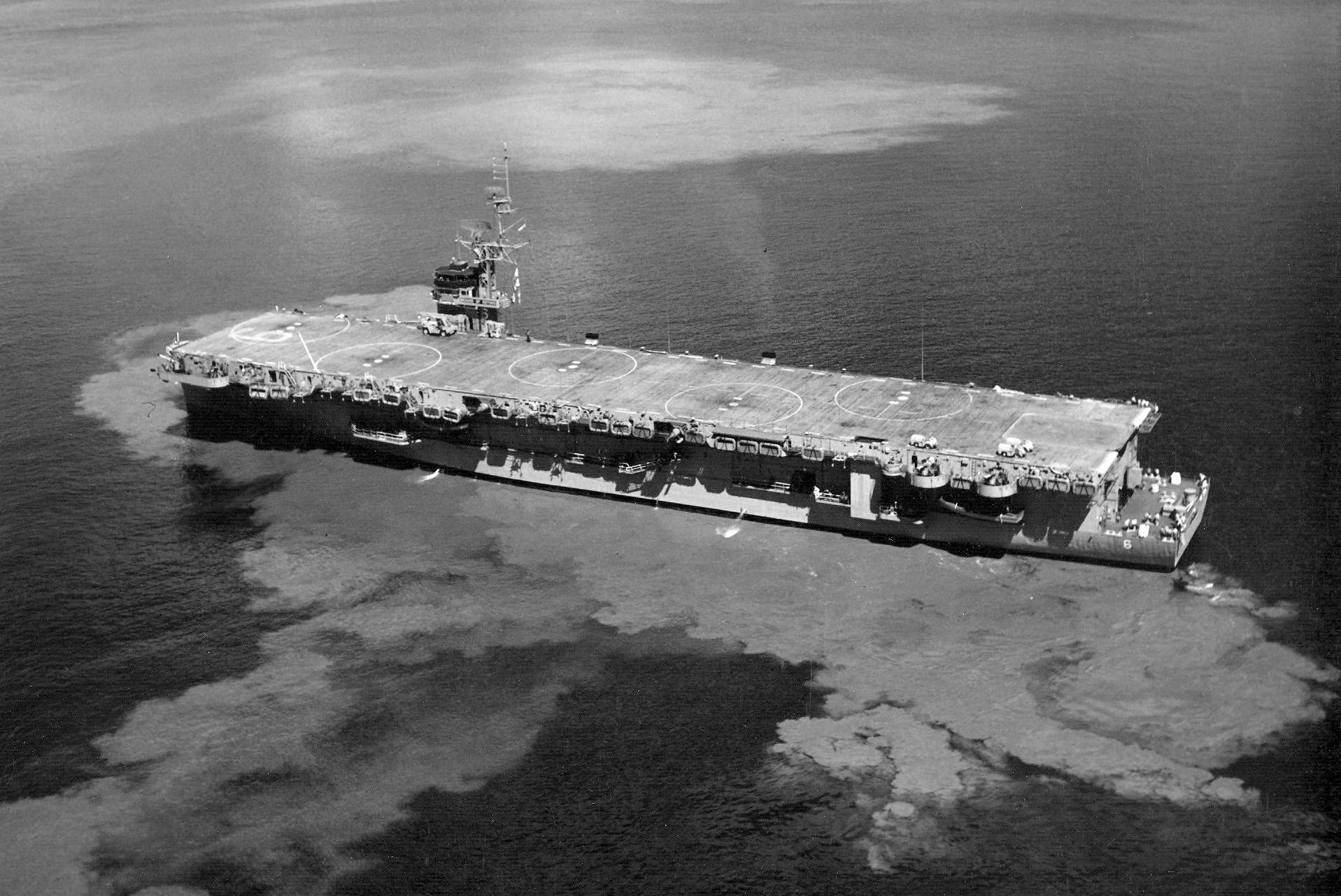 Thetis Bay as helicopter carrier LPH-6, circa 1963