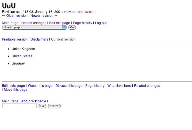 Primer artículo de Wikipedia